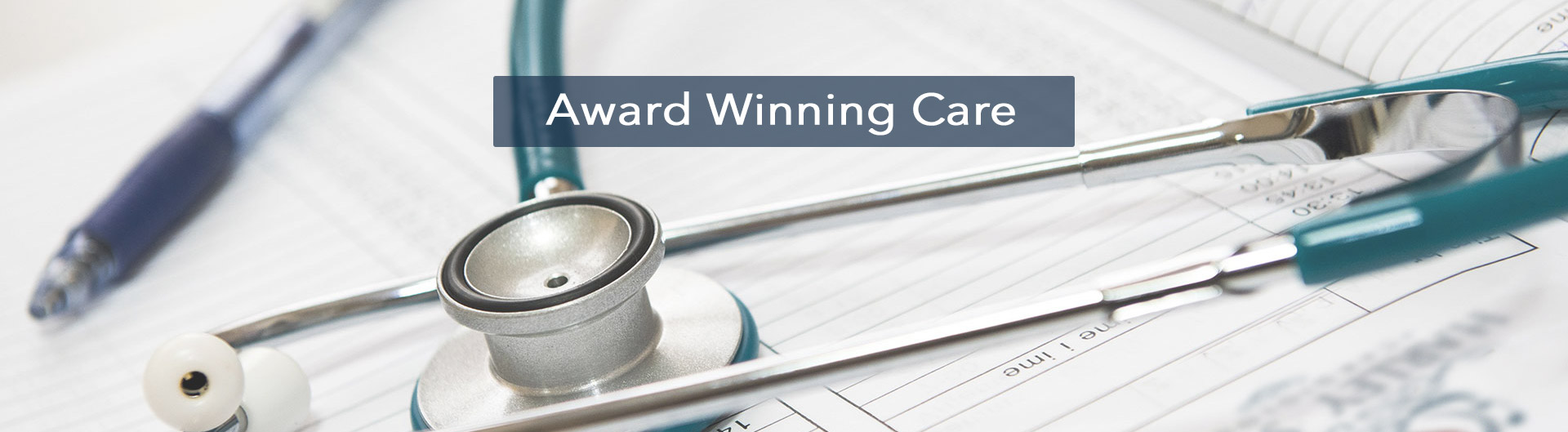 Medical notes header with Award Winning Care title